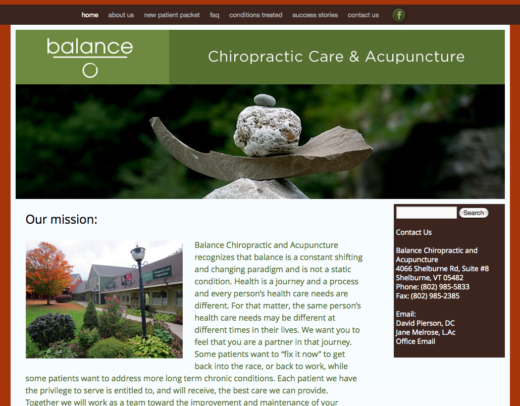 Balance Chiropractic and Acupuncture - Northeast Kingdom ...