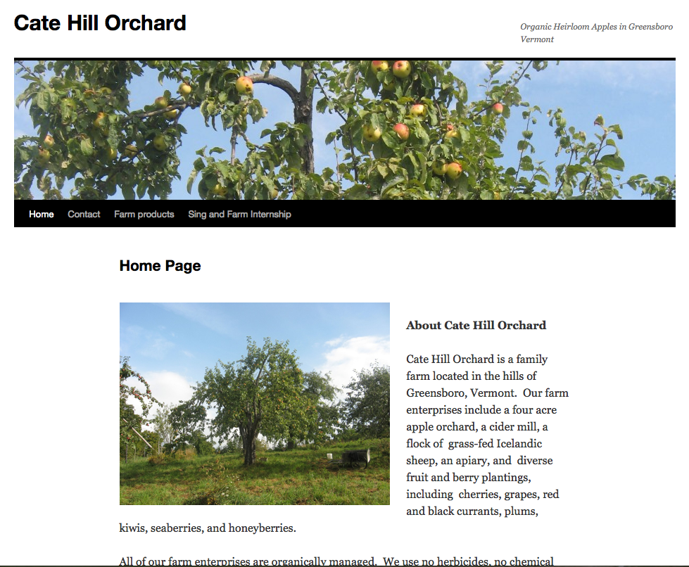 Cate Hill Orchard - Northeast Kingdom Information Associates: Web ...